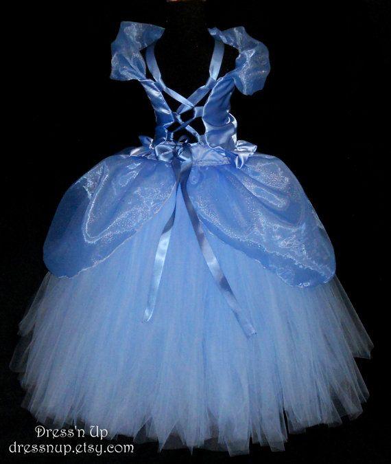 Girls Cinderella Princess Dress, Princess Costume, Halloween tutu dress 4T-6X