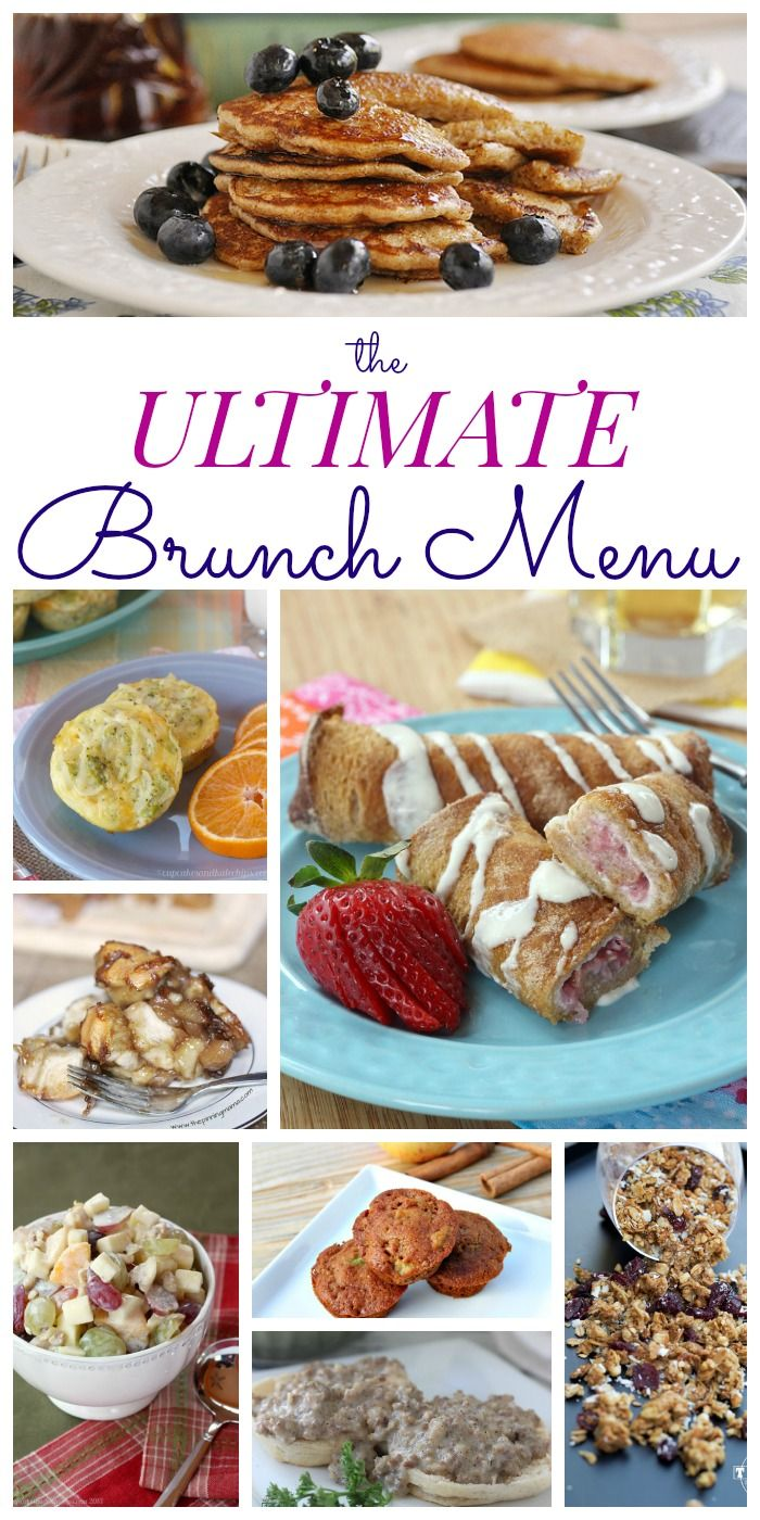 The Ultimate Brunch Menu with the best recipes for Easter, Mother's Day, Baby Showers, Bridal Showers or any special occasion! | cupcakesandkalechips.com