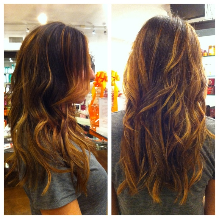 Great Chunky Painted Highlights Balayage Amp Ombre