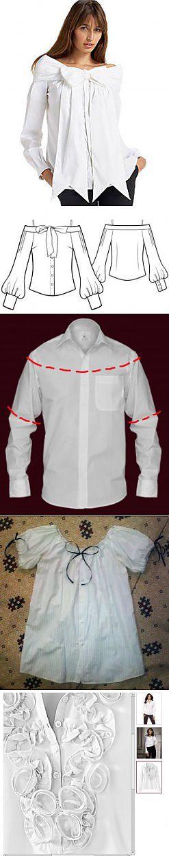 Как переделать мужские рубашки   Шитьё   Постила
