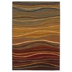 Wavy Stripes Multi 10 ft. 10 in. x 7 ft. 8 in. Area Rug-3U19063440 at The Home Depot