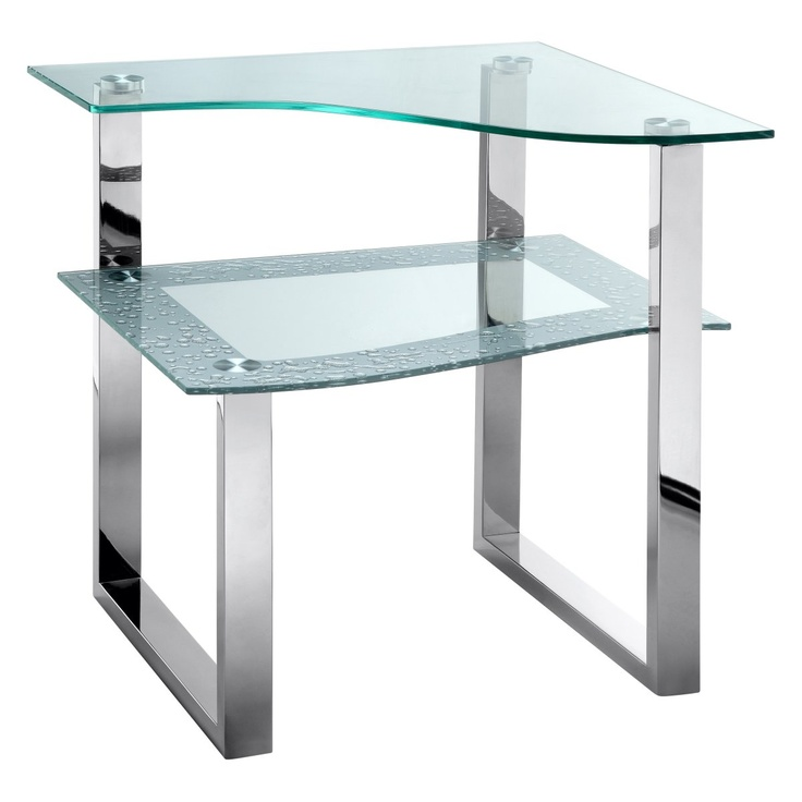 Stein World Lagos Polished Steel And Glass End Table