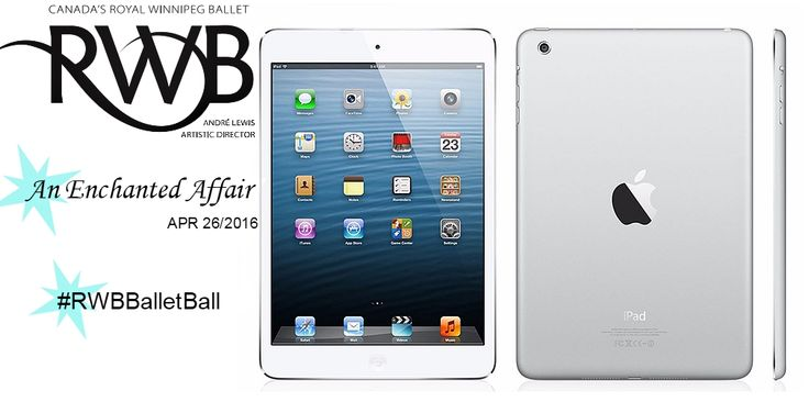 Enter to win this Silver 16GB Apple iPad Air 2, complete with Wifi + Cellular at this years Ballet Ball #RWBBalletBall