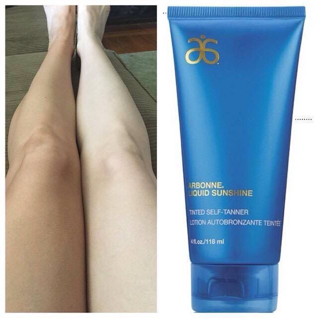 Finally! A self tanner that really works. Arbonne Liquid Sunshine is AMAZING! Order today at www.tarahollenbeck.arbonne.com