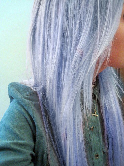 periwinkle! Love it! I wish that I could pull this off.: Purple Hair, Pastel Blue, Periwinkle Hair, Hair Colors, Bluehair, Blue Hair, Hair Style, Pastel Hair, Colors Hair