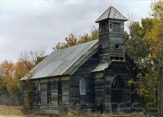 Old Wooden Church in Loess Hills, Iowa. The Loess Hills are made of a unique soil found only in western Iowa and China!