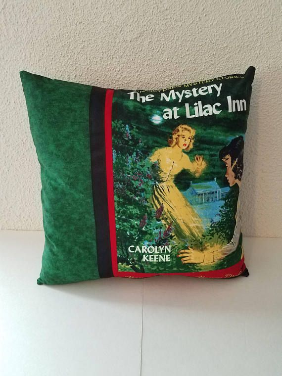 Nancy Drew pillow cover Nancy Drew books The Mystery at