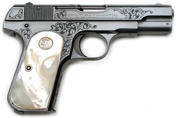 "Factory ""A"" engraved Colt 1903 Pocket Hammerless .32 ACP serial number ..."