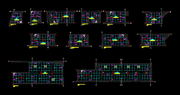 Ceiling construction details (dwgAutocad drawing)