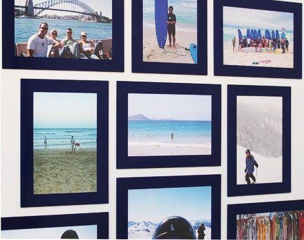 Fridgi Tough Magnetic Frames Dark Blue on Fridge http://www.fridgi.com.au/magnetic-frames/fridgi-tough-frame-info