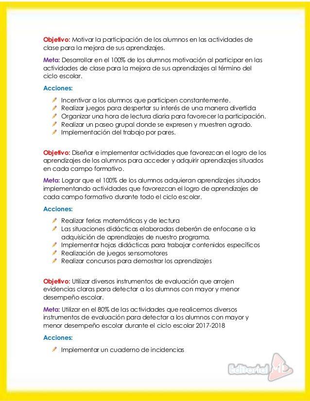 Ejemplo Ruta De Mejora Escolar Editorial MD