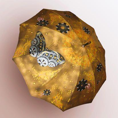 Стимпанк, steampunk, ручная роспись, ручная работа, авторские принты на заказ в интернет-магазине. Зонт стильный ручной работы в стиле стимпанк с изображением механической бабочки из  шестеренок. Прекрасный подарок  любителям стимпанка. #Стимпанк, #steampunk, #ручнаяроспись, #ручнаяработа,  #авторский #зонт #зонтик #umbrella #дизайнерская #крутой #стильный #модный #оригинальный #заказ #хендмейд #tshirt #original #print #draw #drawing #принт #женский #модные #вещи #мода #интересные