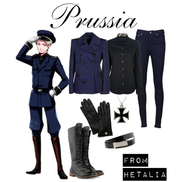 """""""Hetalia - Prussia"""" by anime-couture on Polyvore"""