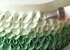 Buttercream Ruffle Cake Tutorial « Canadian Family || love the colors + the ruffles!!