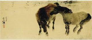 Lee Man Fong (November 14, 1913 - April 3, 1988) - twin horses