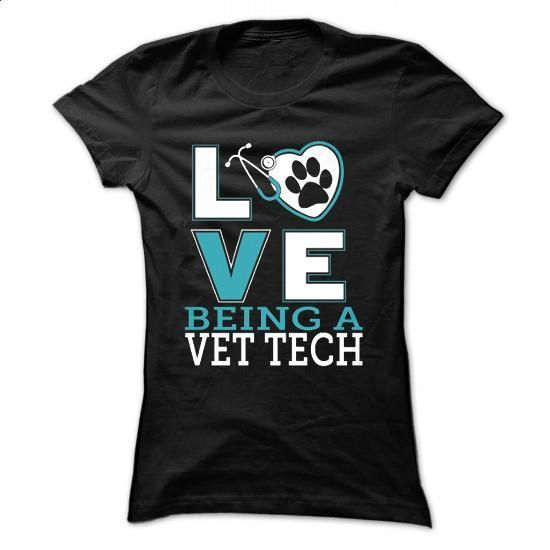 LOVE BEING VET TECH - #white shirt #black hoodie mens. GET YOURS =>…
