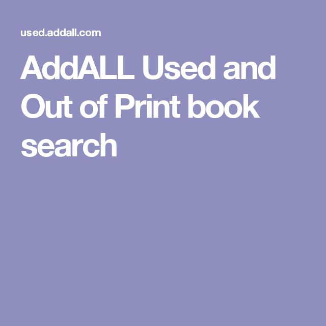 AddALL Used and Out of Print book search