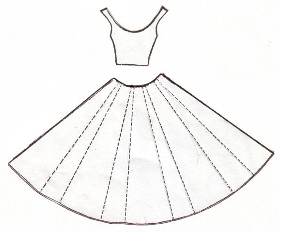 Template for Dress Card