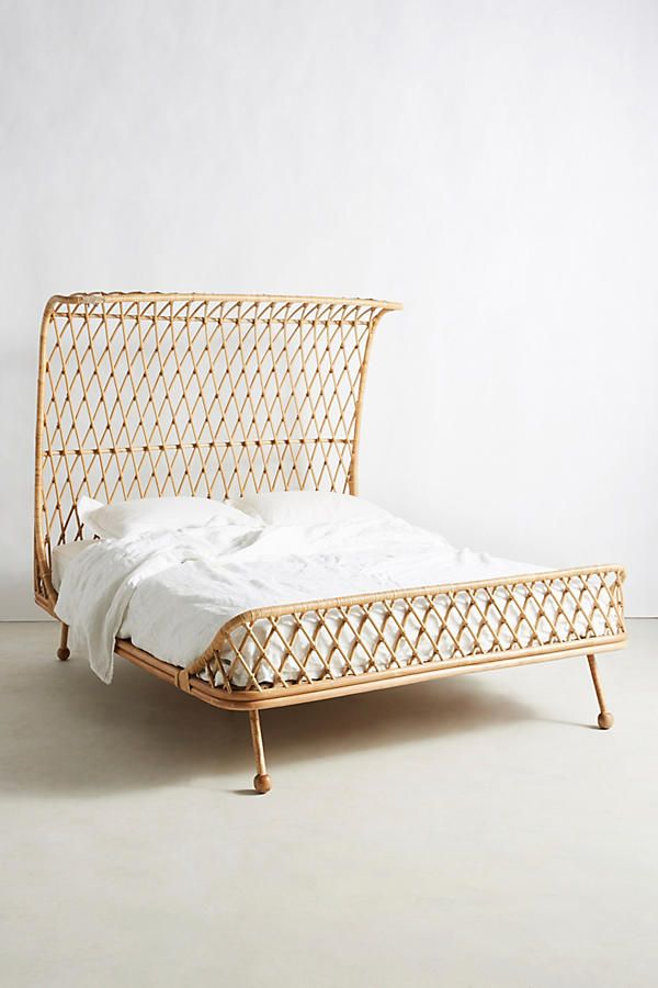 Slide View: 3: Curved Rattan Bed