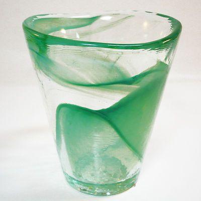 KOSTA BODA Mine Glas Vase • design Ulrica Hydman-Vallien Sweden • org. Label