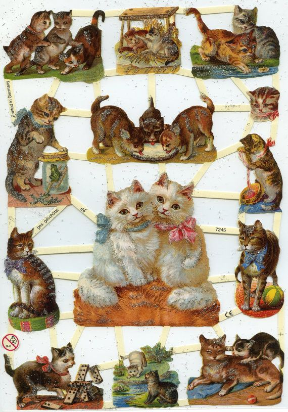 PLAYFUL KITTENS Die Cuts by OneDayLongAgo on Etsy, $2.95