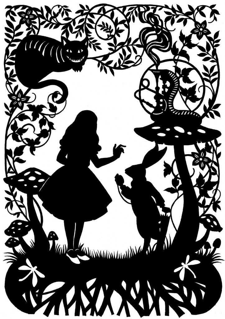 Alice In Wonderland Paper Cut - The Supermums Craft Fair