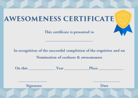 10 best Certificate of Awesomeness images on Pinterest