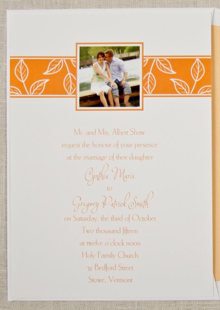 28 best Tangerine / Orange Wedding Invitations images on Pinterest ...