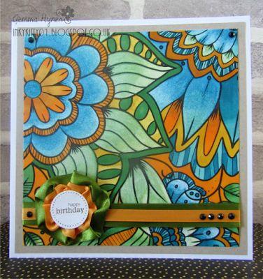 Card made using a sheet from the Colorista Glitter pad #craftercompanion #cards #create #spectrumnoir #spectrumnoircolorista