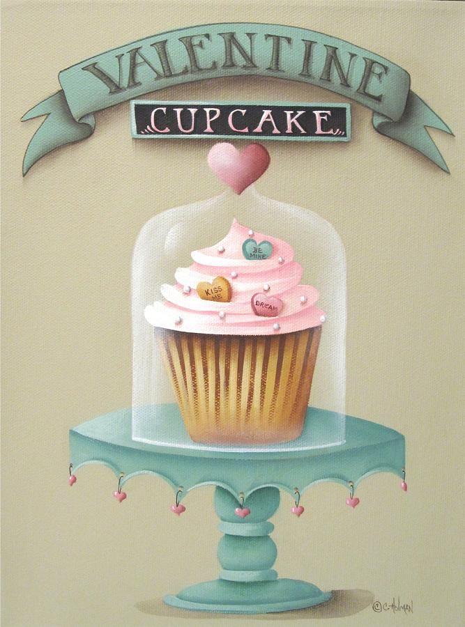 Valentine Cupcake By Catherine Holman