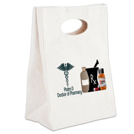 Pharmacist Canvas Lunch Tote #doctor of pharmacy #drugs #perscriptions #pharm d #pharmacist #pharmacy #rx #pharmacist gifts