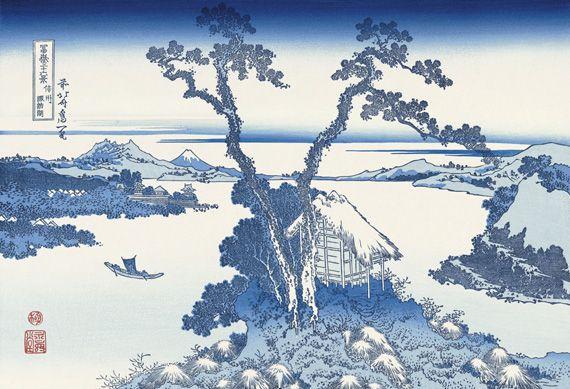 「信州諏訪湖」(富嶽三十六景)