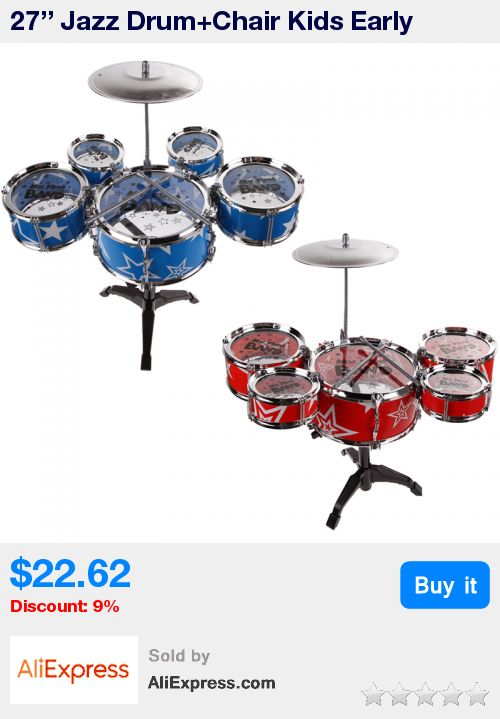 27'' Jazz Drum+Chair Kids Early Education Toy Percussion Instrument Gift * Pub Date: 20:58 Jul 8 2017