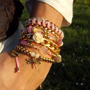 ❤ ComBy Pink Addict ❤ #armparty #bracelets #summer #musthave