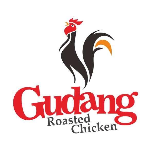 Desain Logo Makanan Rumah Makan Cafe Gudang Roasted Chicken