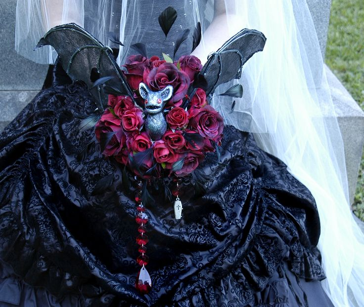 Halloween Wedding Bouquets: Vampire Bride! Bridal Bouquet By ALTflowers