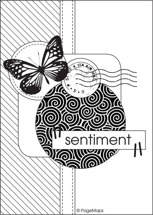 Скетч для открыток скрапбукинга с примерами