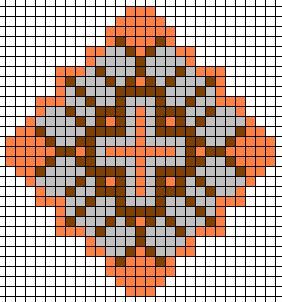 native american beading patterns | This pattern was made in about 15 minutes using the Square Stitch ...