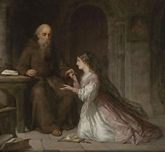 Sir Thomas Francis Dicksee - Juliet And The Friar