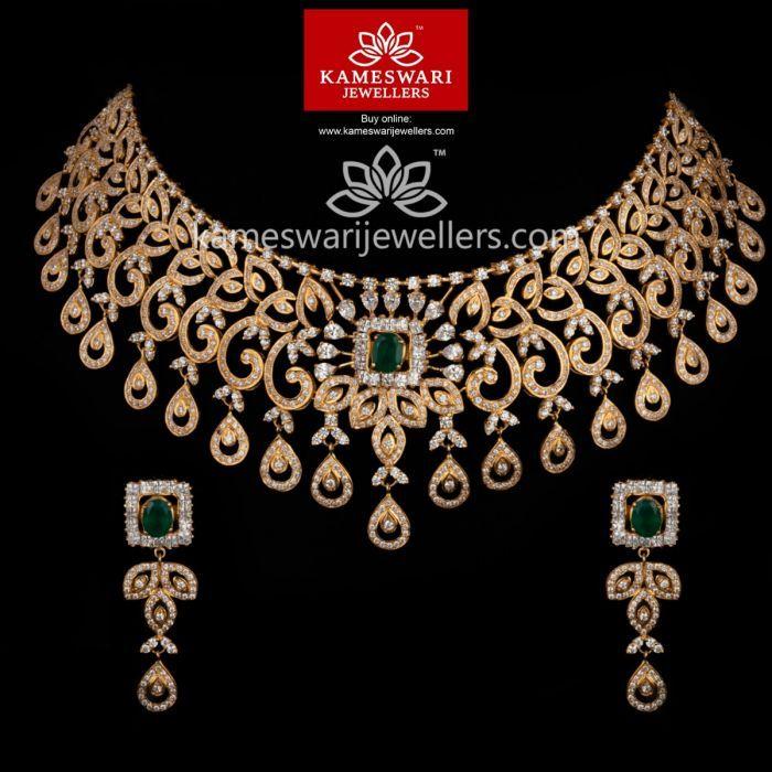 Inaya Swarovski Choker Free Shipping Across India And Usa Call Whatsapp Us On 91 77992179 Gold Fashion Necklace Jewelry Design Necklace Indian Jewelry Sets