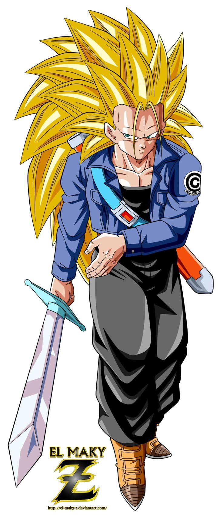 Future Trunks Super Saiyan 3 by el-maky-z.deviantart.com on @DeviantArt - Visit now for 3D Dragon Ball Z compression shirts now on sale! #dragonball #dbz #dragonballsuper
