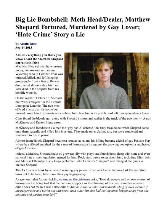 hate crimes matthew sheppard Matthew shepard died from severe injuries he sustained in a violent gay-related  hate crime attack his death set off a nationwide debate about.