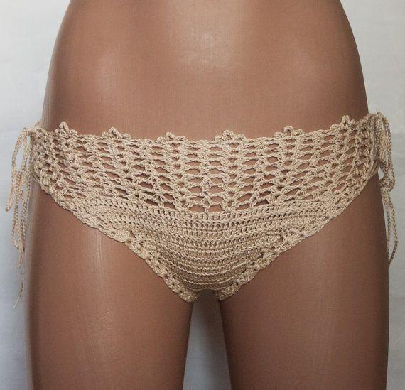 Crochet fishnet bikini trends  summer bikini panties sexy