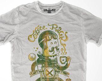 Motorcycle T Shirt Cafe Racer Bike Biker by SpeedThirteen