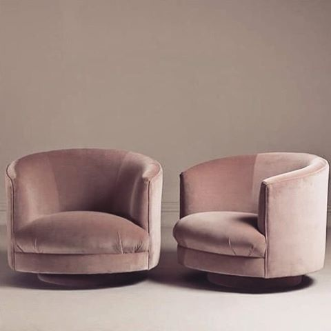 A Pair Of Swivel Tub Chairs
