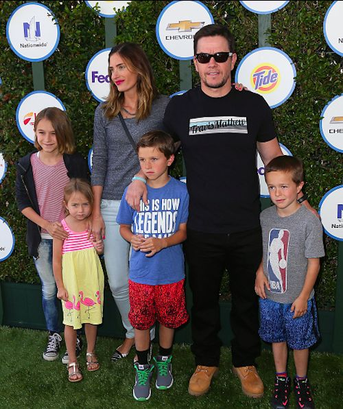 Mark Wahlberg & Family Attend Safe Kids Day