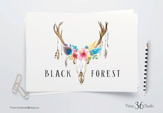 Instant Download Photoshop Logo Floral Logo Antler Logo PSD