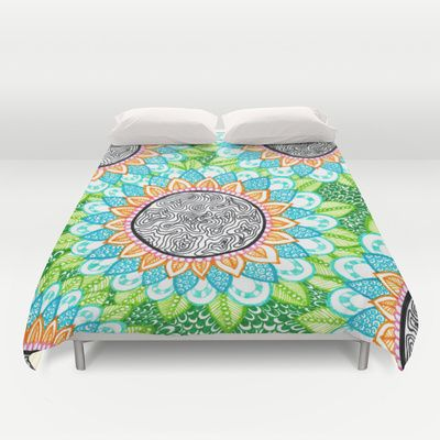 #duvet #duvetcover #cugte #girly #doodle #room #bedroom #bed #design #colorful #girlsroom #fun #flowers #pattern #sharpie