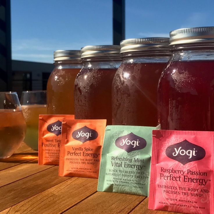 Cool down with a refreshing glass of Yogi tea over ice; prepared using your favorite varieties of Yogi tea.