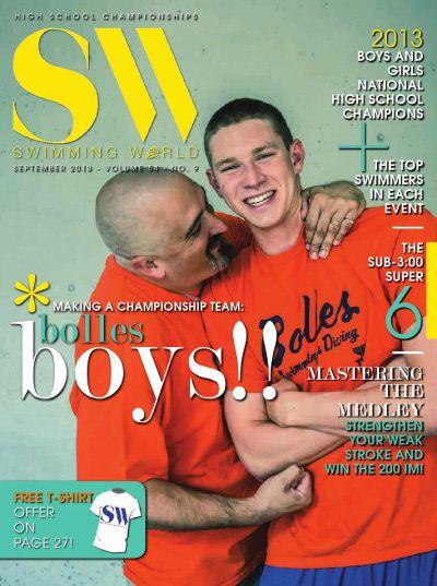 SW, September 2013 (Pictured: Bolles School Head Swim Coach Sergio Lopez, left, and Ryan Murphy)